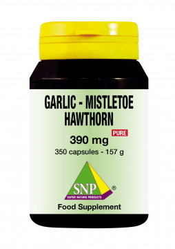 Garlic  Mistletoe  Hawthorn Pure 350 caps