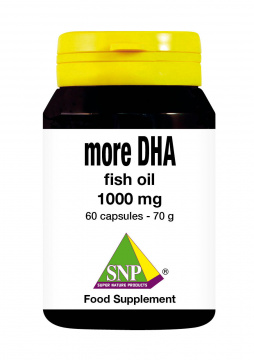More DHA - fish oil