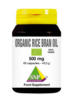 Organic rice bran oil BIO halal kosher